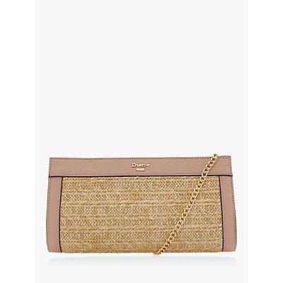 Dune Ebonny Raffia Clutch Bag