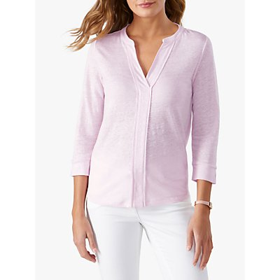Pure Collection Linen Jersey V-Neck Top