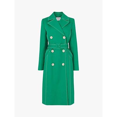 L.K.Bennett Kaylee Trench Coat, Green