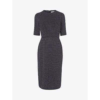 L.K.Bennett Liya Midi Dress, Navy/Cream