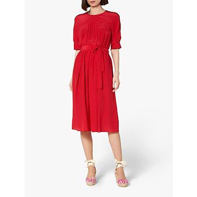 L.K.Bennett Reina Tie Waist Dress, Red