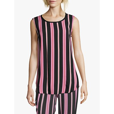 Betty Barclay Striped Sleeveless Top, Black/Rosé