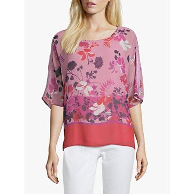 Betty Barclay Floral Print Tunic, Rosè/Red