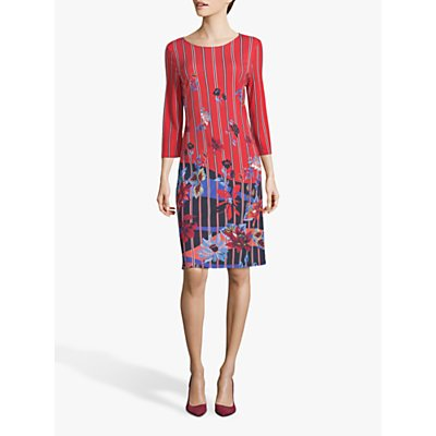 Betty Barclay Floral Jersey Dress, Red/Blue