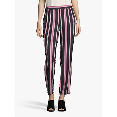 Betty Barclay Relaxed Striped Trousers, Black/Rosé