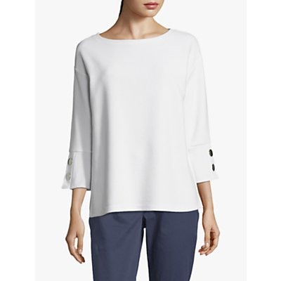 Betty Barclay Ribbed Button Jersey Top, Bright White
