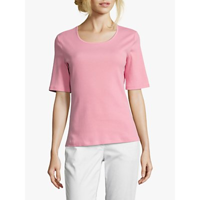 Betty Barclay Ribbed Short Sleeve Top