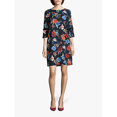 Betty Barclay Floral Print Dress, Purple Light