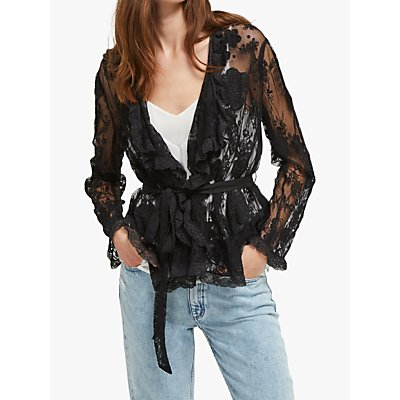 French Connection Elayna Waterfall Jacket, Black