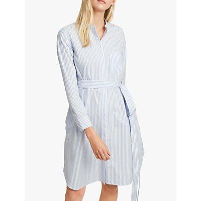 French Connection Leondra Stripe Dress, Blue/White