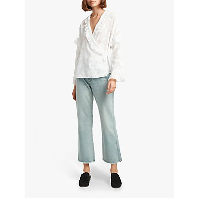 French Connection Clarta Coupe Blouse, Summer White