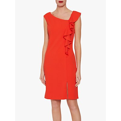 Gina Bacconi Bernita Asymmetric Frill Dress