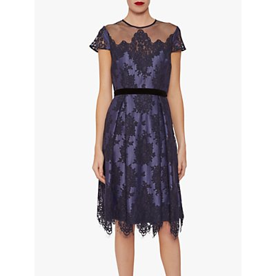 Gina Bacconi Wendi Lace Dress, Navy
