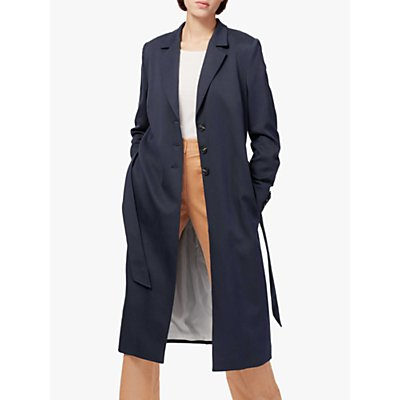 Brora Twill Belted Coat, Midnight