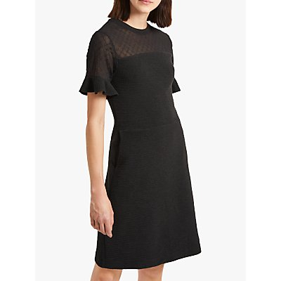 French Connection Roesia Fit And Flare Dress, Utility Blue