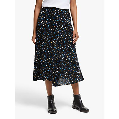 Collection WEEKEND by John Lewis Alexandra Floral Print Midi Skirt, Black/Multi