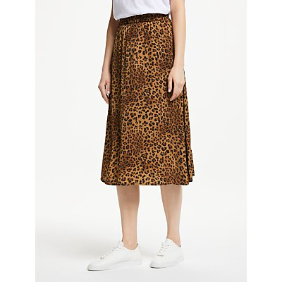 Gestuz Jane Print Skirt, Brown Leopard