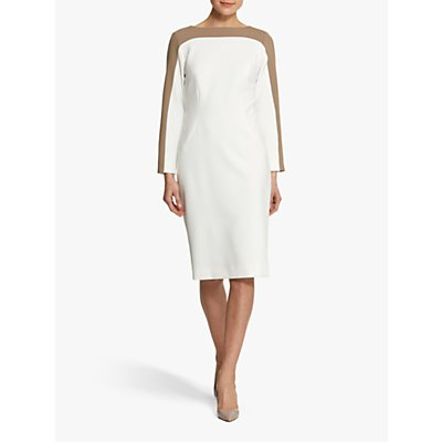 Helen McAlinden Charlotte Dress, White/Mink
