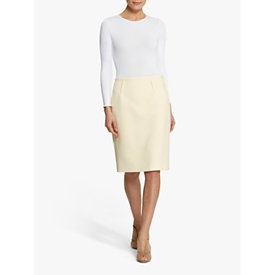 Helen McAlinden Kylie Pencil Skirt, Lemon