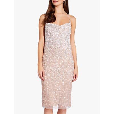 Adrianna Papell Beaded Slip Dress, Shell