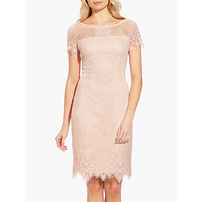Adrianna Papell Lace Overlay Shift Dress, Blush