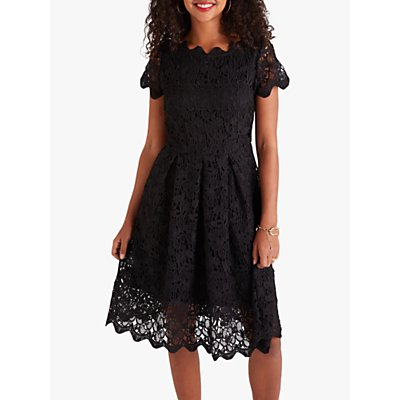 Yumi Floral Lace Dress, Black