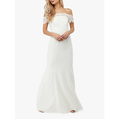Monsoon Sophie Lace Wedding Dress, Ivory