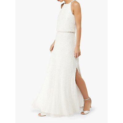 Monsoon Diana Embellished Bridal Maxi Dress, Ivory