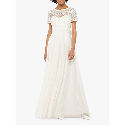Monsoon Beatrice Embellished Bridal Maxi Dress, Ivory