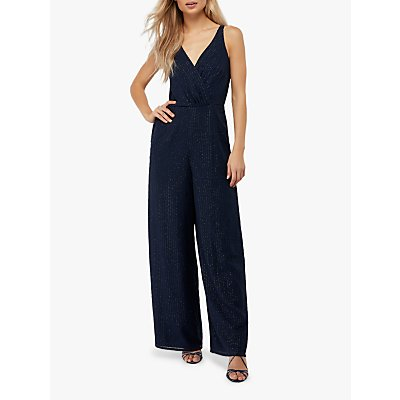 Monsoon Frederique Beaded Jumpsuit, Navy