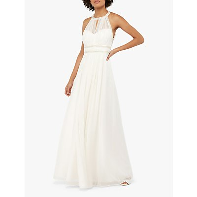 Monsoon Elanor Embellished Grecian Wedding Dress, Ivory