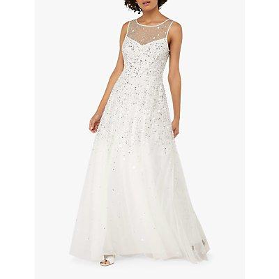 Monsoon Victoria Embellished Bridal Maxi Dress, Ivory