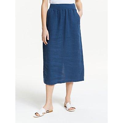 Seasalt Angel Ray Linen Skirt, Night