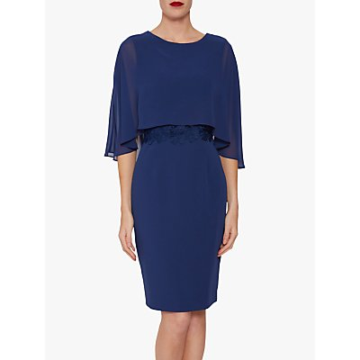 Gina Bacconi Devra Dress With Chiffon Cape