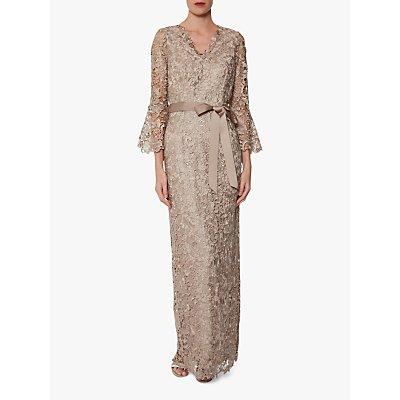Gina Bacconi Cordia Maxi Dress, Beige