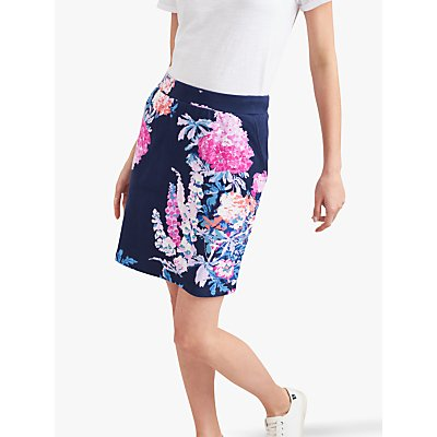 Joules Portia Printed Pencil Skirt, Navy Floral