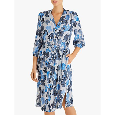 Fenn Wright Manson Rowan Floral Shirt Dress, Blue