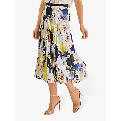 Fenn Wright Mason Kiku Abstract Floral Pleated Skirt, Multi