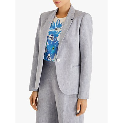Fenn Wright Manson Christelle Textured Linen Jacket, Blue