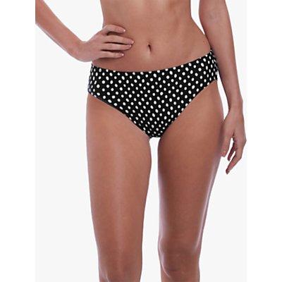 Fantasie Santa Monica Spot Print Bikini Briefs, Black/White