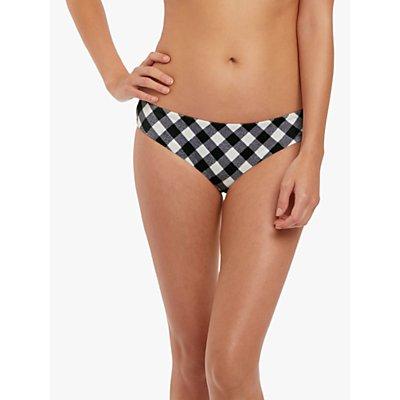 Freya Totally Check Bikini Briefs, White/Black