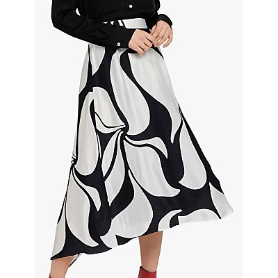 Ghost Olivia Skirt, Abstract Monochrome