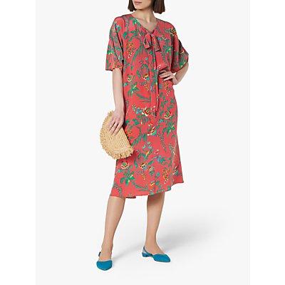 L.K.Bennett Estella Midi Dress, Pink/Multi