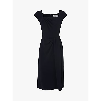 L.K.Bennett Denise Fitted Dress, Navy