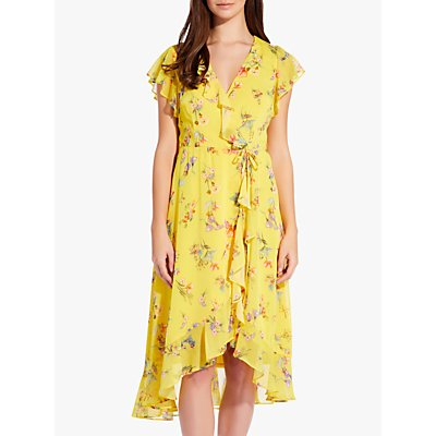 Adrianna Papell Sunny Corsage Dress, Yellow/Multi