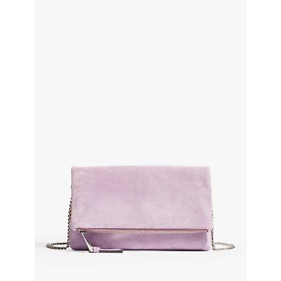 Karen Millen Suede Flap Clutch Bag