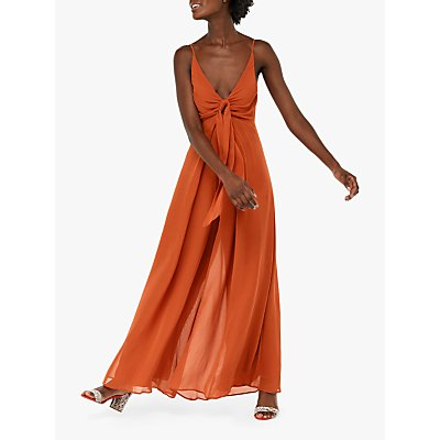 Monsoon Joan Wide Leg Tie Front Jumpsuit, Rust