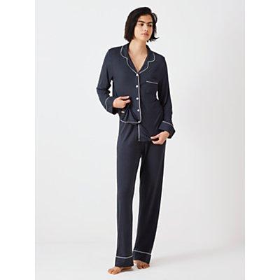 John Lewis   Partners Aria Jersey Pyjama Set  Navy - 5057618892577