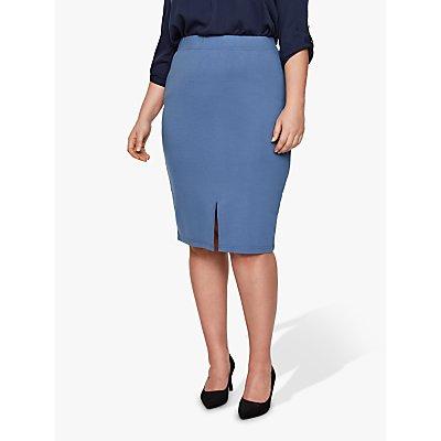 I.Scenery Curve Lingo Midi Skirt, Blue