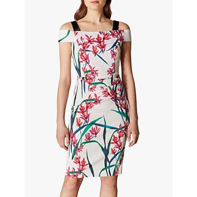 Karen Millen Floral Bodycon Dress, Multicolour